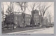NORTH MANCHESTER INDIANA  MANCHESTER COLLEGE~CLEARVIEW B/W POSTCARD 1950s