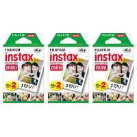 3 Packs 60 Instant Photos FujiFilm Fuji Instax Mini Film Polaroid 7S 8 50S SP-2