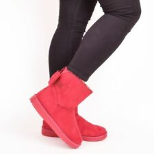 Ladies Womens Winter Snow Boots Fur Warm Comfy Casual Diamante Shoes Size 3-8