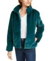 MSRP $100 Maison Jules Faux-Fur Jacket Green Size XL