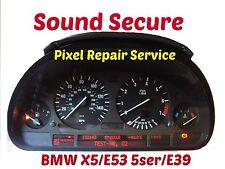 BMW X5 E53  E38 E39 5 7Ser Speedo Instruments Clock Cluster Pixel Repair Service