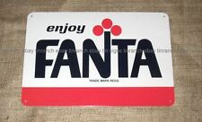 new retro 70s FANTA TIN SIGN Cool soft drink soda bar vintage Deli pop art COOL
