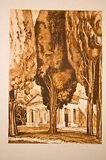 ermitage de saint cassien, près de Cannes, maurice de Lambert, grav.1942