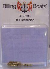 Billing BOATS Accessorio bf-0298 7mm CORRIMANO Stanchions X 10 OTTONE Pack NUOVO