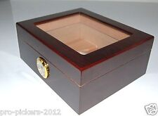 NEW Kiln Dried Spanish Cedar Glass Top Cigar HUMIDOR w/ Humidifier & Hygrometer