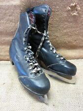 Vintage Leather English Sheffield Steel Ice Skates > Old Antique Skating 7291
