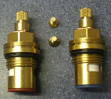 2 De Cerámica 1/4 turn tap válvula insertos glándulas hot&cold 20 Spline 7,6 mmx14.9 mm 02