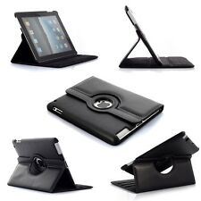 BLACK  360° Rotating iPad MINI SMART PU Leather Cover Case + Protector + Stylus