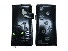 Nemesis Now Lucky Cat Black Long Ladies Purse Wallet Feline Paw Print Gift