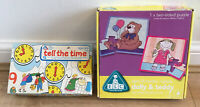 Rare ELC Bundle - Tell the Time jigsaws and 2 sided Teddy / Dolly puzzle