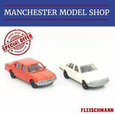 Fleischmann HO 1:87 BMW E23 745i red & Audi 100 cream NEW UNBOXED