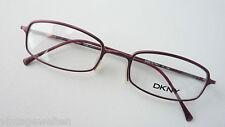 DKNY Luxus Damenbrille schmale Glasform Metall feiner Acetatbügel Gr M 50-19