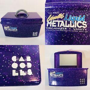Caboodles Liquid Metallics Purple Makeup Case Vanity Cosmetic Organizer 5620