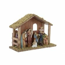 Traditional Wooden Nativity Scene Set Christmas Xmas Decoration
