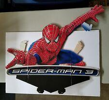 Spiderman 3 DVD Release Cardboard Display Promotional Topper Standee