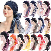 Women Long Hair Head Scarf Muslim Chemo Turban Hat Wrap Cap Headwear Turban Lot