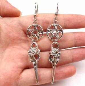 Viking Earring Nordic Bird Skull Amulet Rune - UK Seller