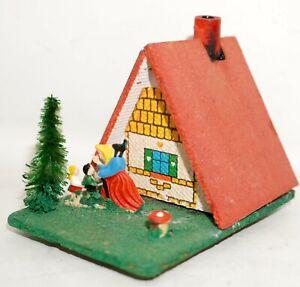 Räucherhaus Hütte Erzgebirge ALT Weihnachtsdekoration Hänsel und Gretel DDR