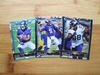 (3) Diff Minnesota Vikings 2015 Topps TEAM SET w/ Chrome + Refractor (30) Cards