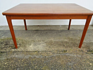 REALLY COOL DANISH MODERN HENNING KJAERNULF EXPANDABLE TEAL? DINING TABLE. 1960?