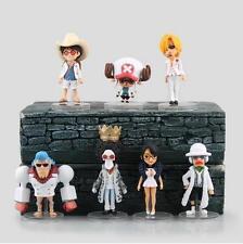 7Pcs/Set One Piece WCF Luffy/Chopper/Sanji White Ver. PVC Figure Anime Toy Gift