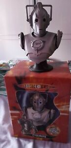 """DOCTOR WHO CYBERMAN LIMITED EDITION COLLECTOR 6"""" BUST & BOX THE CARDS INC"""