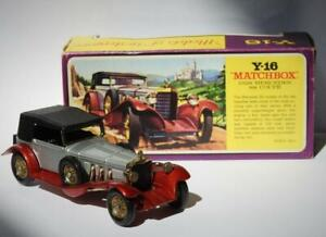 MATCHBOX LESNEY 1972 MODELS OF YESTERYEAR BOXED 1928 MERCEDES SS COUPE Y-16-2