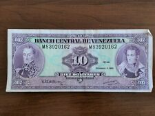BANCO CENTRAL DE VENEZUELA: DIEZ (10) BOLIVARES BILL (1992) a6