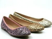 Women Glitter Sequin Slip On Flats  Comfort Casual Loafers Walking Shoes Sz 5-10