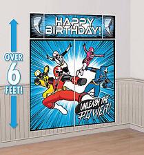 POWER RANGERS NINJA STEEL Scene Setter HAPPY BIRTHDAY party decoration kit 6'