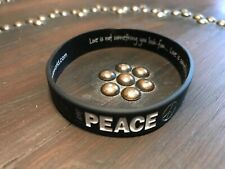 PEACE LOVE WORLD PEACE  SILICONE BRACELET NEW I am Peace