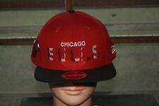 New Era NBA Chicago Bulls Snapback Hat Cap Red White Black