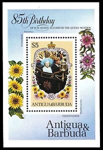 ANTIGUA 870 (SG949) - Life and Times of the Queen Mother S/S (pf22489)