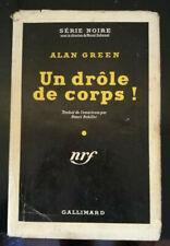 POLICIER SERIE NOIRE N°90 ALAN GREEN UN DROLE DE CORPS! JAQUETTE 1951