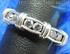 DIAMONIQUE CUBIC ZIRCONIA Sterling Silver 0.925 Estate WEDDING BAND RING size 6
