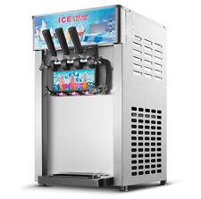 3 Flavor Commercial Frozen Ice Cream Cones Machine Soft Ice Cream Machine 220V