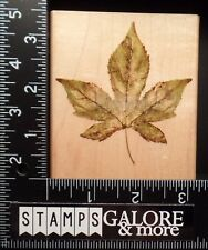 RUBBER STAMPEDE USED RUBBER STAMPS A2497H LIQUID AMBER LEAF - TREE