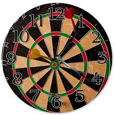 "10.5"" DART BOARD GAME CLOCK - Large 10.5"" Wall Clock - Home Décor Clock - 3180"
