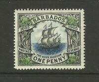 Barbados 1d 1605-1905 Olive Blossom MH Mint Great Condition Old Collection