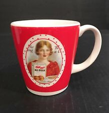"KELLOGG ALL-BRAN Cereal Coffee Cup Mug 4"" Tall x 3-7/8"" Diameter"