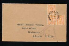 MALAYA PAHANG KUALA LIPIS WW2 CENSOR SINGAPORE TRIANGULAR 1940 to CINCINNATI