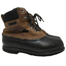 L.L. Bean Womens Bean Boots G2 Sole Duck Boots Brown Leather US Size 8W