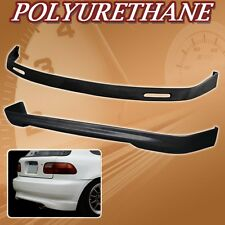 FOR 92-95 CIVIC 3DR BYS POLY URETHANE PU FRONT REAR BUMPER LIP SPOILER BODY KIT