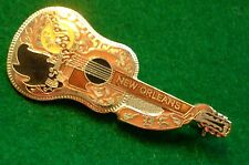 HRC Hard Rock Cafe New Orleans Gold Buddy Holly Acoustic Guitar Dead Rocker