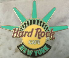 Hard Rock Cafe NEW YORK 2005 Statue of Liberty Crown Over HRC Logo PIN #28620
