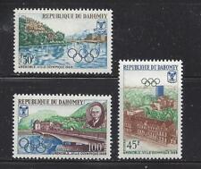 DAHOMEY (REP) - 241-243 - MH & 243a S/S-MNH -1967- WINTER OLYMPICS, GRENOBLE