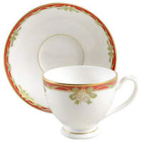 Waterford China Holiday Ribbons Cup & Saucer 2220207
