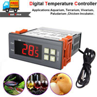 Digital Temperature Controller Temp Sensor Thermostat Control 110-220V STC-1000