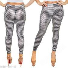 Check Machine Washable Leggings for Women