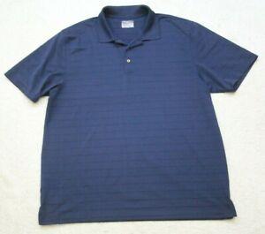 XXL Grand Slam Polo Shirt Top Short Sleeve Men's Solid Navy Blue 2XL Mans Golf